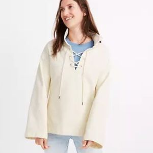 NWT Madewell Lace-Up Sweatshirt XL
